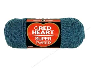 Hearts: Coats & Clark Red Heart Super Tweed Yarn 5oz Blue Bayou
