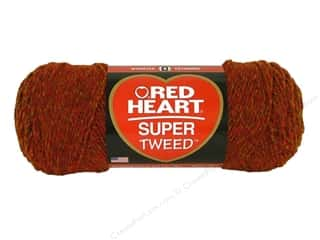 tweed yarn: C&C Red Heart Super Tweed Yarn 5oz Fire
