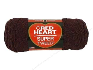 Blend Burgundy: Coats & Clark Red Heart Super Tweed Yarn 5oz Mulberry