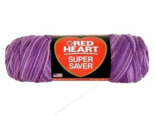 Yarn Red Heart Super Saver Yarn: Red Heart Super Saver Yarn #546 Purples Tone 5 oz.