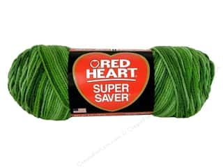 Multi Colored Yarn: Red Heart Super Saver Yarn Green Tones 5 oz.
