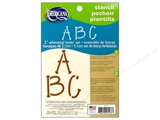 "Painting ABC & 123: DecoArt Stencil 5""x 7"" 2"" Whimsical Letter"