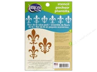 "Stencils $6 - $7: DecoArt Stencil 5""x 7"" Fleur de Lis Value Pack"