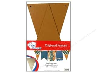 Paper Accents Chipboard Pennants 10 x 16 in. 5 pc. Kraft
