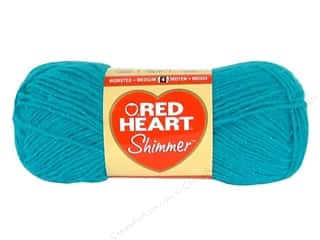 shimmer yarn: Red Heart Shimmer Yarn #1503 Turquoise 280 yd.