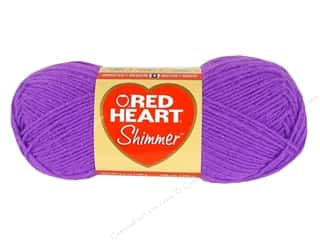 shimmer yarn: Red Heart Shimmer Yarn 3.5 oz. Purple