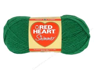 shimmer yarn: Red Heart Shimmer Yarn 3.5 oz. Shamrock