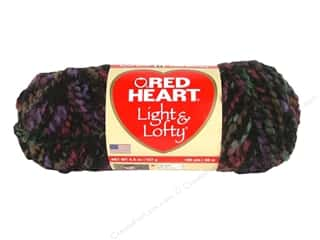 Bulky yarn: Red Heart Light & Lofty Yarn Nightline 4.5 oz.