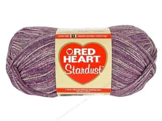 tweed yarn: C&C Red Heart Stardust 1.76oz Purple