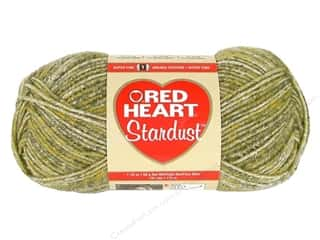 wool yarn: C&C Red Heart Stardust 1.76oz Green