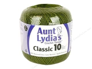 Aunt Lydia's Classic Crochet Thread Size 10 Olive