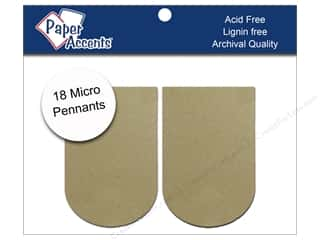 Weekly Specials Therm O Web Zots: Chipboard Pennants 1 1/4 x 2 in. Micro Arched 18 pc. Kraft