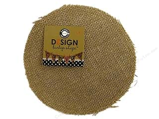 Canvas Corp Blank Shape Burlap Round