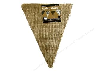 Canvas Corp Blank Shape Burlap Triangle