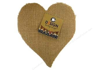 Canvas Corp Blank Shape Burlap Heart