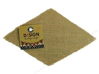 Kandi Corp Clearance Crafts: Canvas Corp Burlap Shape Diamond