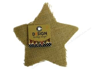 Canvas Corp Blank Shape Burlap Star