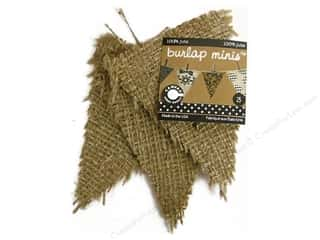 Canvas Corp Blank Shape Burlap Minis Triangle 3pc