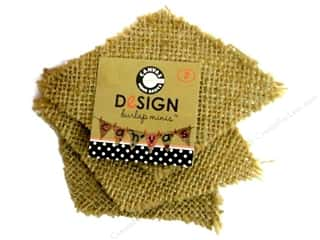 Canvas Corp Burlap Shape Mini Diamond 3 pc.