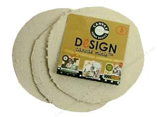 Canvas Bazzill: Canvas Corp Blank Shape Canvas Minis Round 3pc