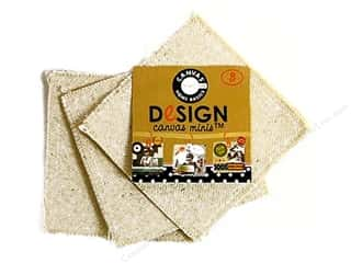 Canvas Bazzill: Canvas Corp Blank Shape Canvas Minis Square 3pc