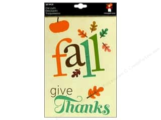 Licensed Products Fall / Thanksgiving: Imaginisce Die Cut Happy Harvest Fall Phrases