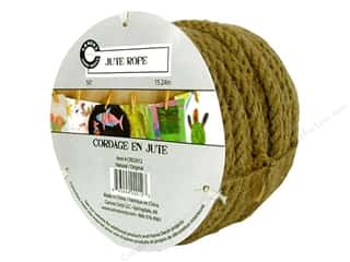 Canvas Corp Embel Rope Roll 50' Jute Natural