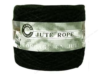Canvas Corp Embel Cord Ball 225&#39; Jute Black