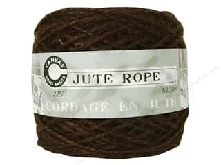 Canvas Corp Embel Cord Ball 225&#39; Jute Chocolate