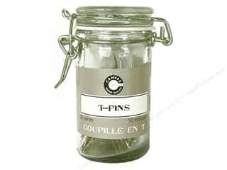 Canvas Corp T-Pins Hardware Jar Silver 50 pc.