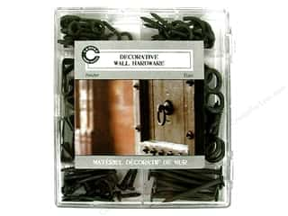 Hooks Basic Components: Canvas Corp Decorative Wall Hardware Kit Pewter