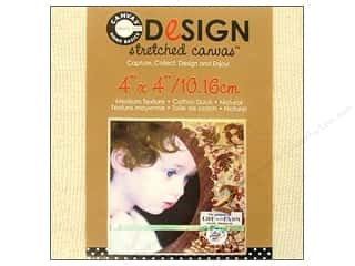 "Canvas Corp Blank Stretched Canvas Natural 4""x 4"""