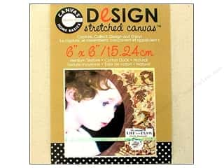 Memory & Paper Craft Frames: Canvas Corp Blank Strthd Canvas Ntrl 6x6""