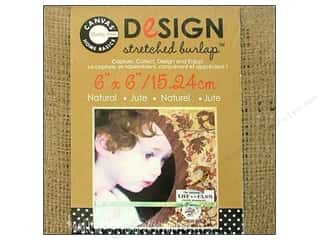 Canvas Corp Blank Stretch Burlap 6x6