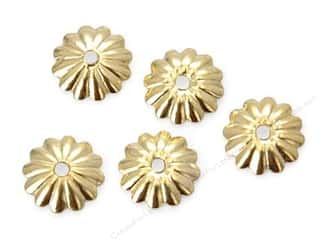 Findings: Sweet Beads Fundamental Finding Cap 6 mm Fluted Gold 72pc