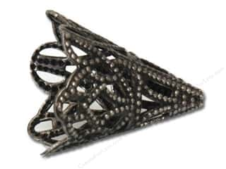 Sweet Bead Cone 16 x 20mm Filigree Antique Silver 4pc
