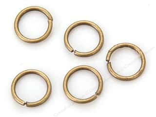 Sweet Beads Fundamental Finding Jump Rings 8 mm Antique Gold 118 pc.