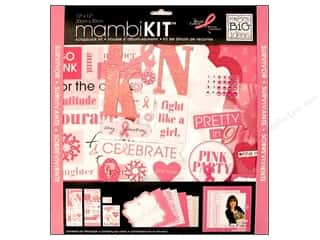 "MAMBI Kit Scrapbook 12""x 12"" BCRF Pretty In Pink"