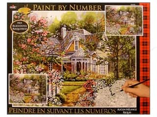 Outdoors Crafting Kits: Plaid Paint By Number 16 x 20 in. Victorian Cottage