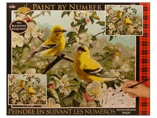 Plaid Paint By Number 16 x 20 in. Goldfinches