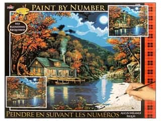 Plaid Paint By Number 16 x 20 in. Lakeside Cabin