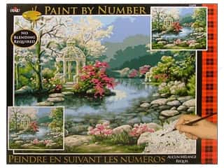 Plaid Paint By Number 16 x 20 in. Japanese Gardens