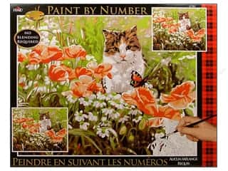Plaid Paint By Number 16 x 20 in. Cat's Garden