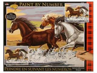 Plaid Paint By Number 16 x 20 in. Mesa Horses