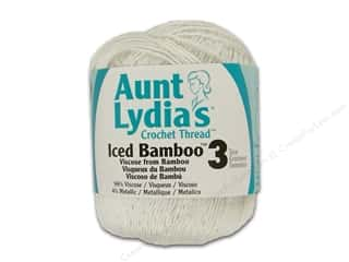 Aunt Lydia&#39;s Iced Bamboo Crochet Thread Size 3 Icicle