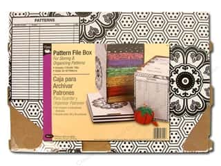 Boxes and Organizers: Pattern File Box by Dritz 7 5/8 x 12 5/8 x 9 in.