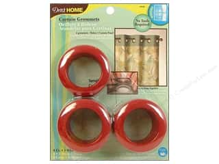 plastic curtain grommets: Dritz Home Curtain Grommets 1 9/16 in. Round Red 8pc