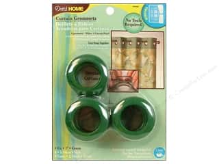 Dritz Home Curtain Grommets Medium 1 in. Round Green 8pc