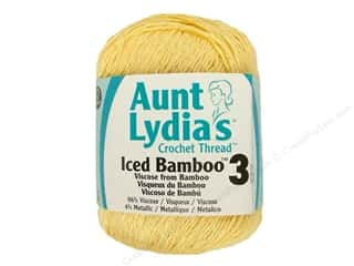 Aunt Lydia&#39;s Iced Bamboo Crochet Thread Size 3 Lemon