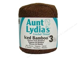 Aunt Lydia&#39;s Iced Bamboo Crochet Thread Size 3 Chocolate